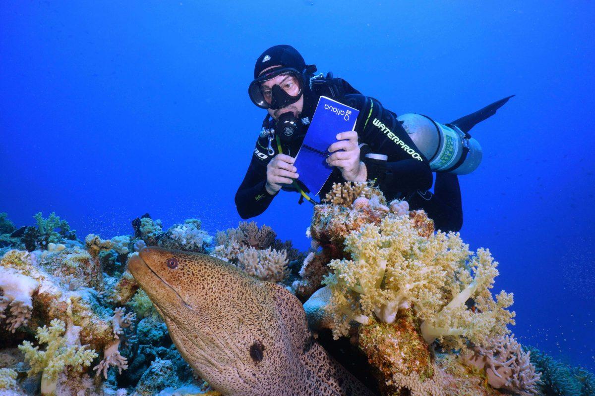 waterproof diving notebook